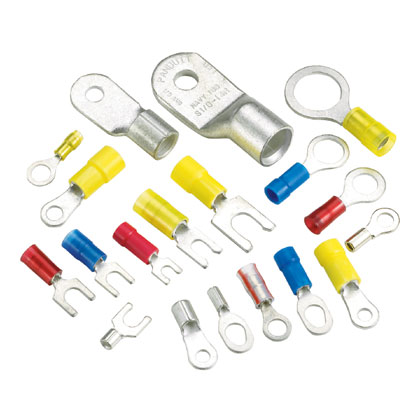 PN10-6F-L, Fork Terminal, nylon insulated, 12- 10 AWG, #6 stud size, standard package. (25 items)