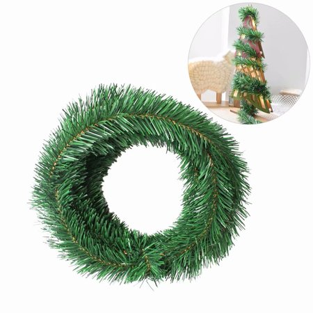 5.5M Mini Christmas Tree Decoration Wired Wreaths Garland Holiday Decal