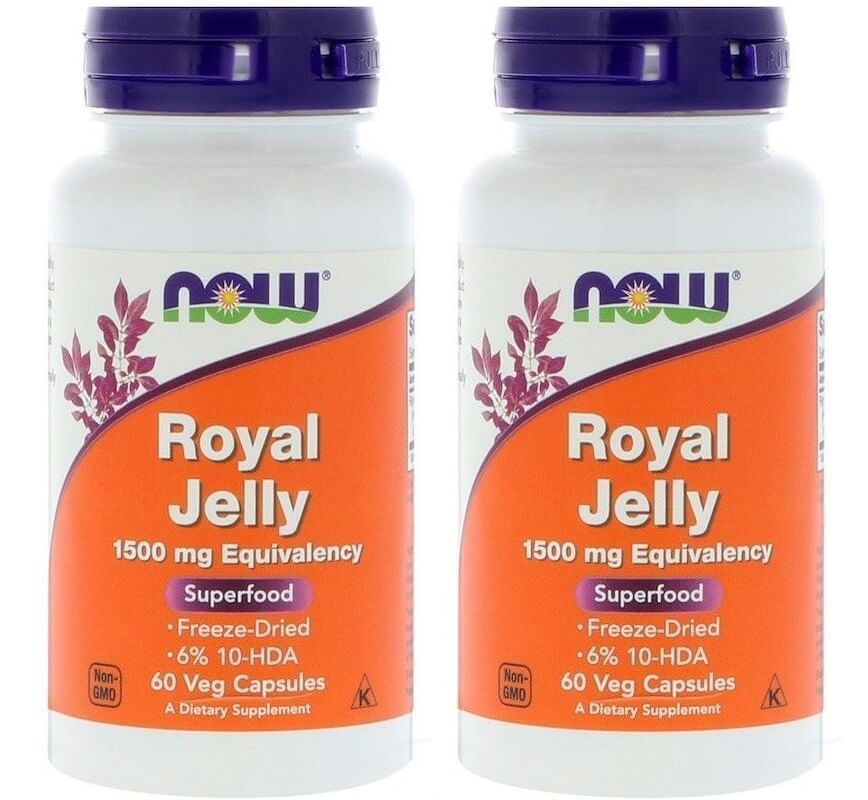 Now Foods, Royal Jelly, 60 Veg Capsules - 2 Packs
