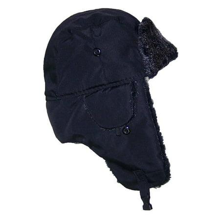 Best Winter Hats Big Kids Nylon Russian/Aviator Winter Hat (One Size) - Black - Black And Red Jester Hat