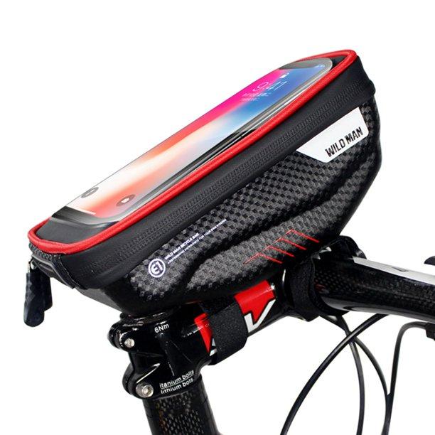 Bicycle Front Handlebar Bag Waterproof Zipper Touch Screen Rainproof Hard Shell Bike Case For 4 7 6 2 Inch Phone Walmart Com Walmart Com