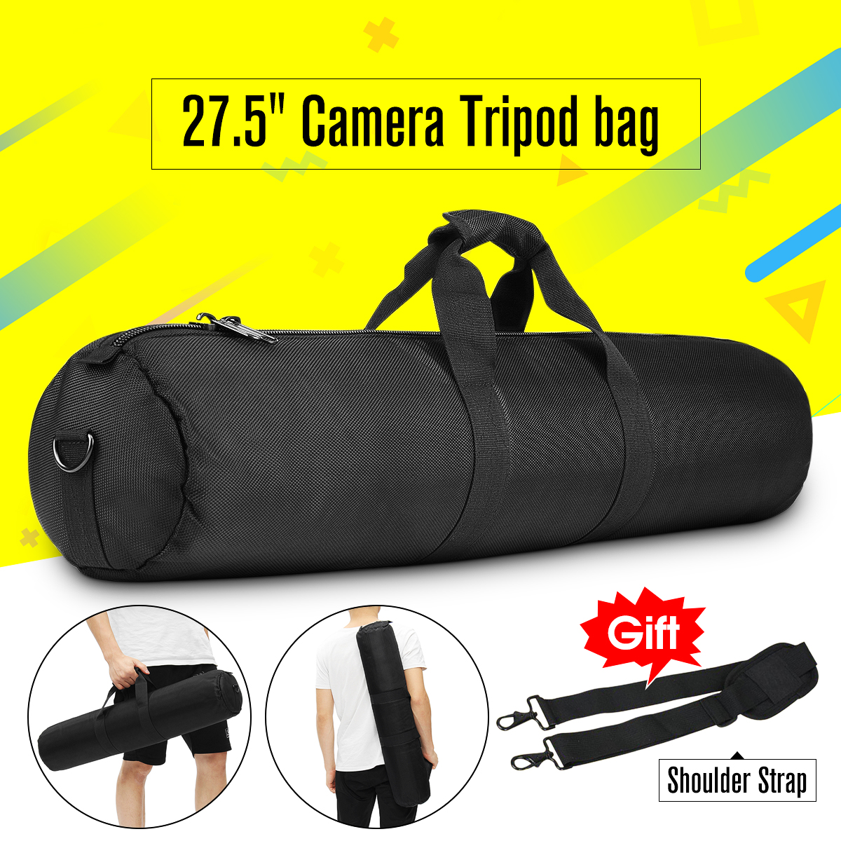 27'' Length Padded Strap Camera Tripod Carry Bag Case Waterproof for Manfrotto, for Gitzo, for Velbon by Unbranded