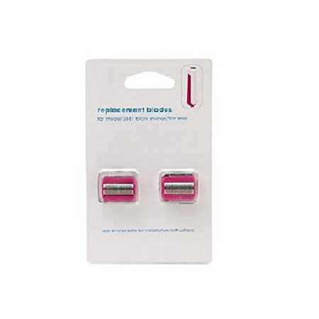 Clio Designs Replacement Blades for Model 3881 Shaver & Trimmer Pink 2 ea