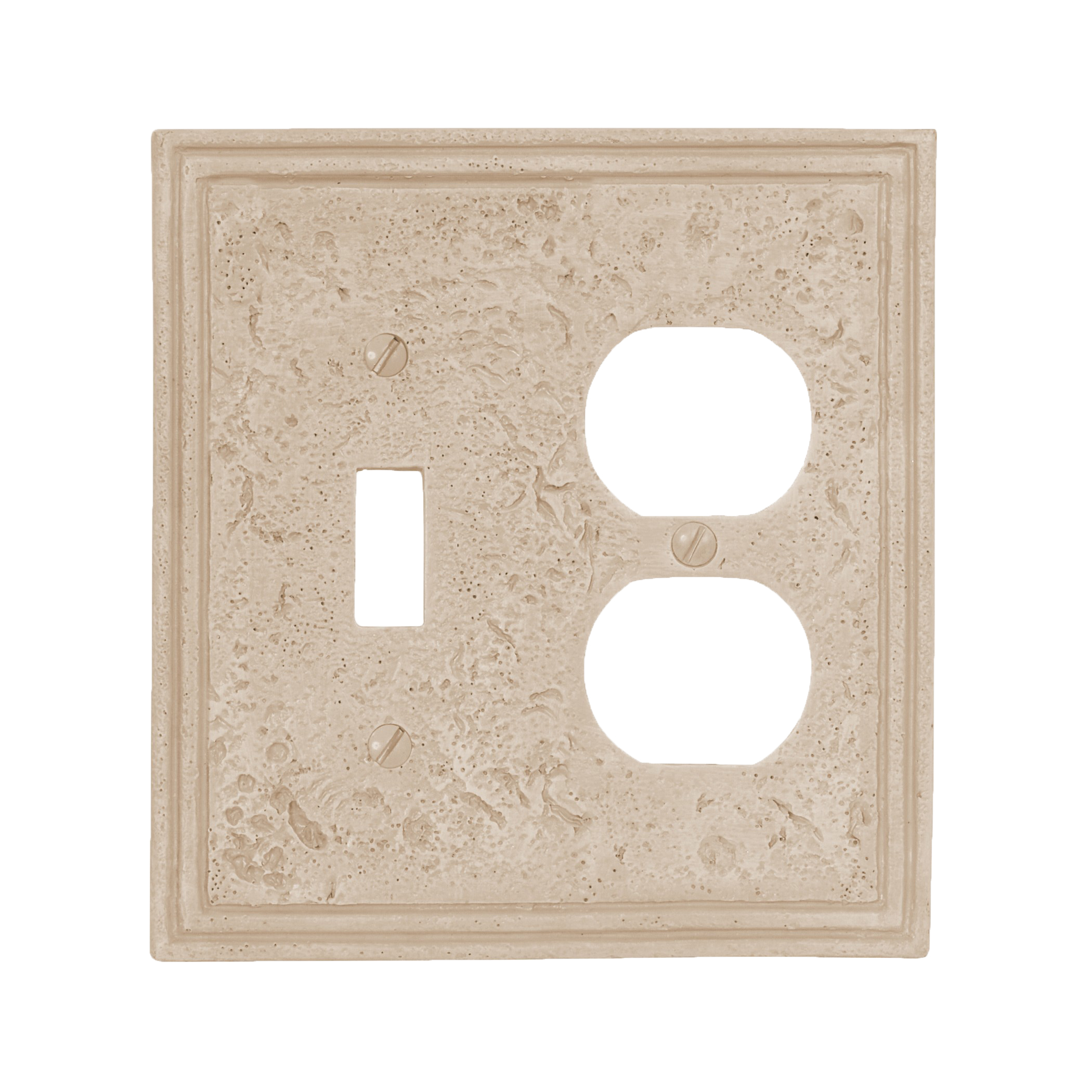 Faux Stone Travertine Textured Stone Resin Switch Plate ...