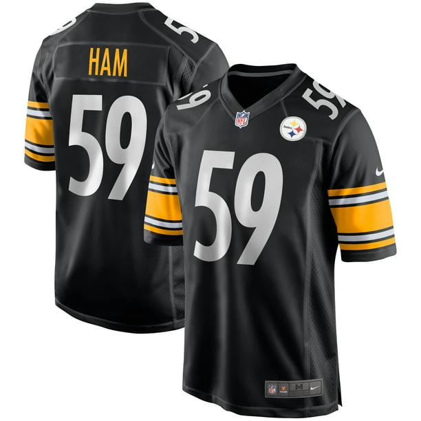 Jack Ham Pittsburgh Steelers Nike Game Retired Player Jersey - Black