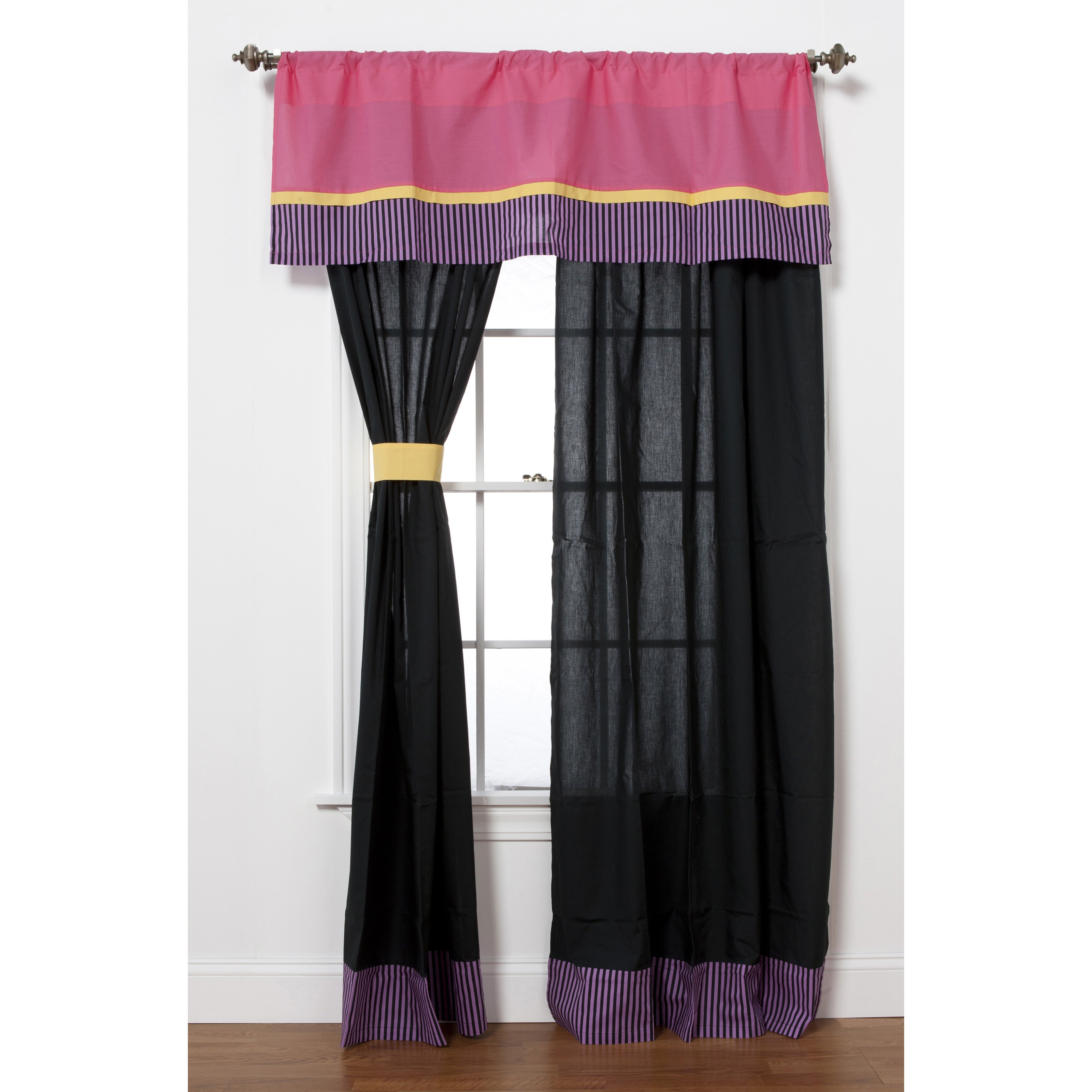 Sassy Shaylee Curtain Panel Pair with Optional Valance