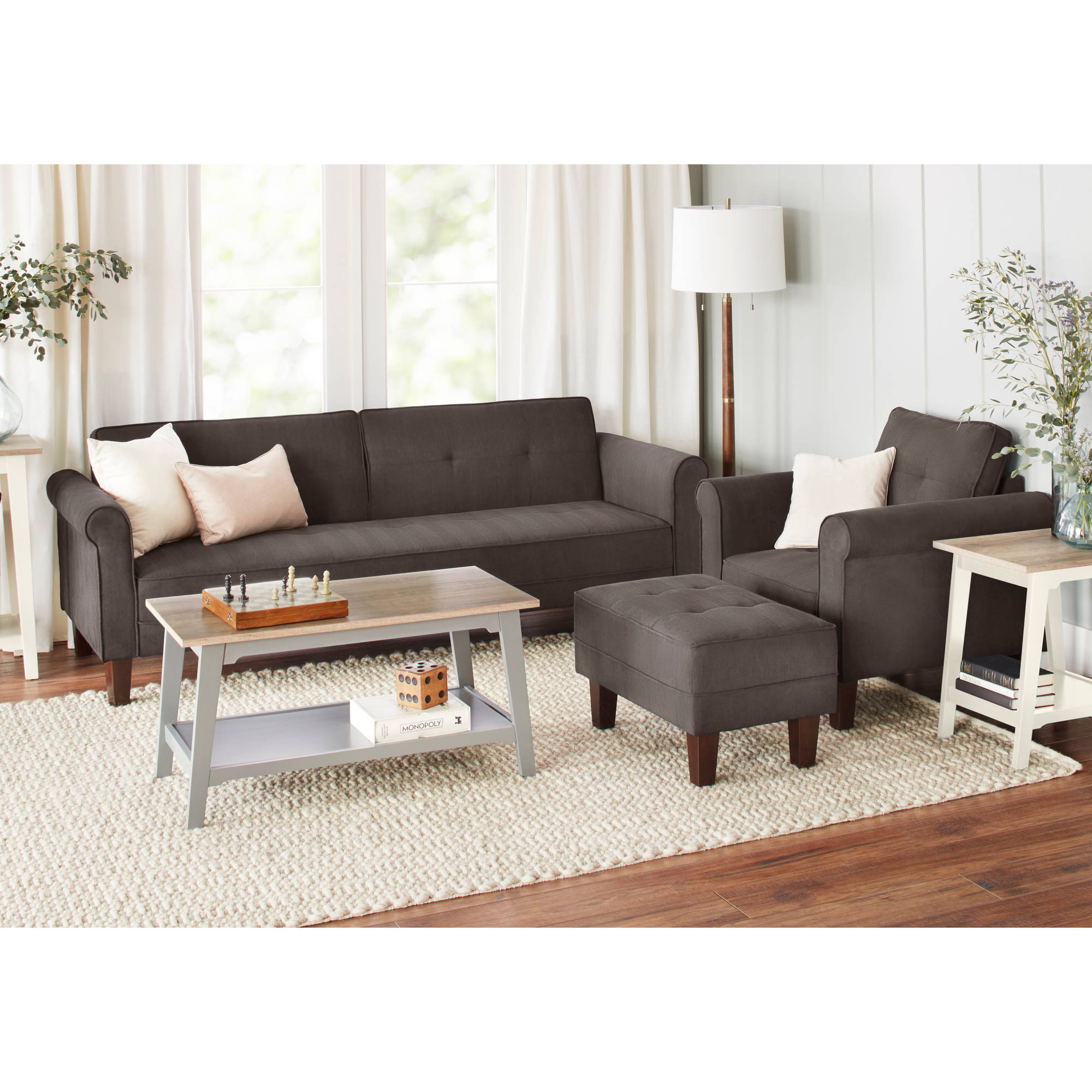 10 Spring Street Ashton Microfiber Sofa Bed Bundle of 5 Walmart