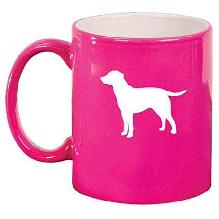 Retriever Ceramic (Ceramic Coffee Tea Mug Cup Lab Labrador Retriever (Pink) )