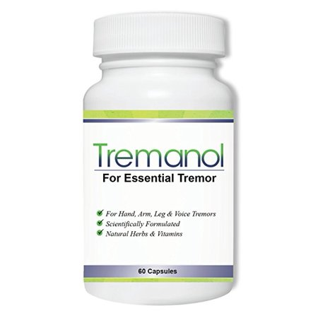 Tremanol – All Natural Essential Tremor Relief Supplement - Provides Long-Term Herbal Relief to Reduce and Soothe Shaky Hands, Arm, Leg, & Voice Tremors