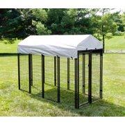 """KennelMaster Black Welded Wire Dog Kennel, 96""""L x 48""""W x 72""""H"""