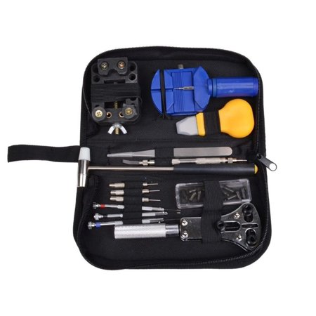 CALHOME Watch Repair Tool Kit Opener Link Remov er Spring Bar Band Pin w/ Carrying Case