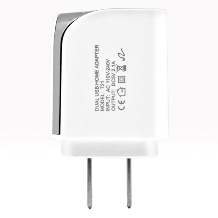 Accessory Kit 3 in 1 Charger Set Compatible with Google Nexus 10 Cell Phones [2.1 Amp USB Car Charger and Dual USB Wall Adapter + 5 Feet Micro USB Cable] White - image 2 de 9