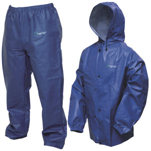 Frogg Toggs Pro Lite Rain Suit Royal Blue M L SKU: PL12140-12M L w Cloth by Frogg Toggs