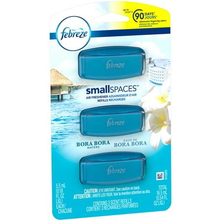 Febreze Small Spaces Bora Bora Waters Air Freshener Refills 0.54 fl ...