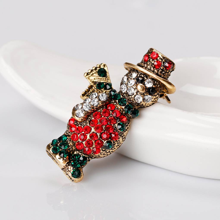 Christmas Tie Tack  Pin  Tack Pins  Soldier and Snowman