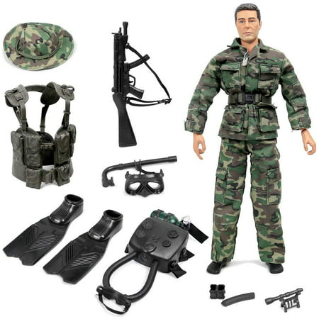 Factory Team Blue Titanium Turnbuckles (Click N' Play Special Ops Navy Seal Swat Team Action Figure Play Set With Accessories. )