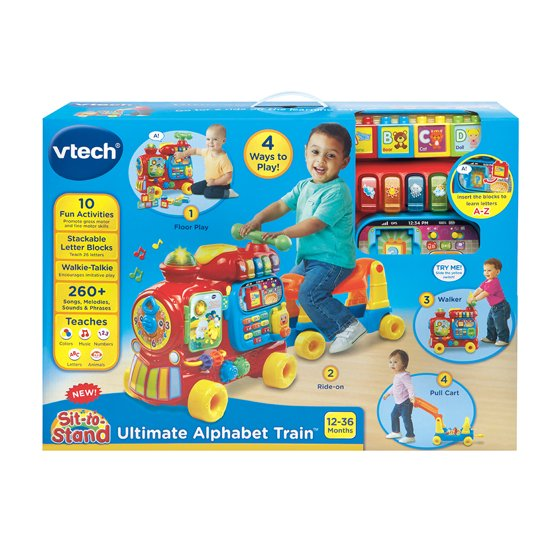 Vtech Sit To Stand Ultimate Alphabet Train Walmartcom