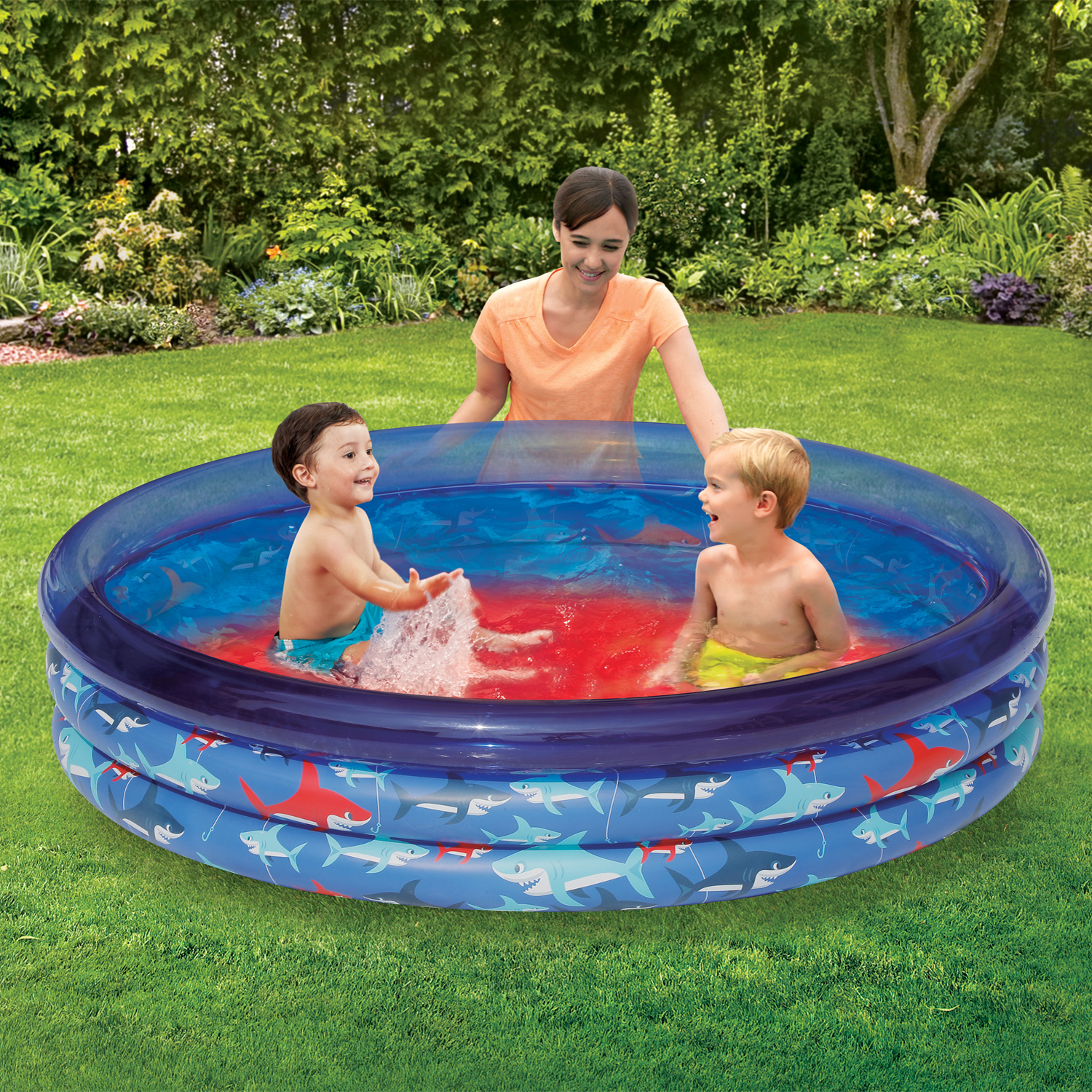 PLAY DAY BLUE 3-RING POOL