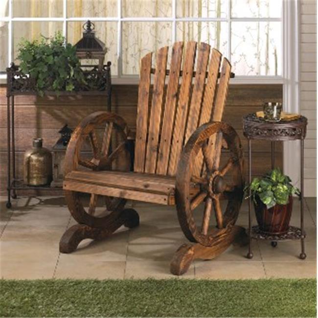 Zingz & Thingz 57071205 Wagon Wheel Adirondack Chair
