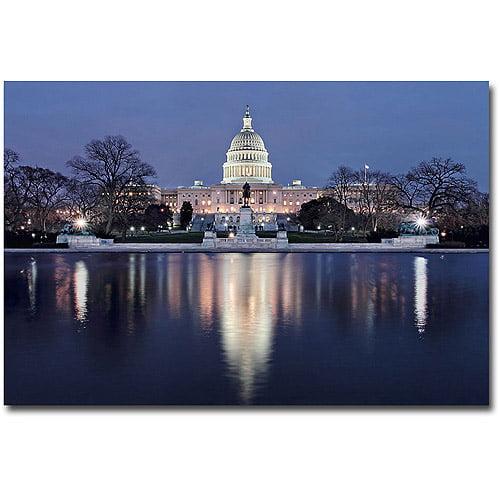 "Trademark Art ""Capitol Reflections"" Canvas Wall Art by Gregory O'Hanlon"