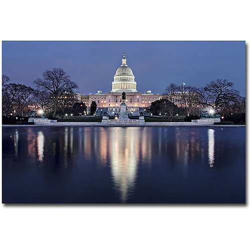 "Trademark Art ""Capitol Reflections"" Canvas Wall Art by Gregory O'Hanlon"