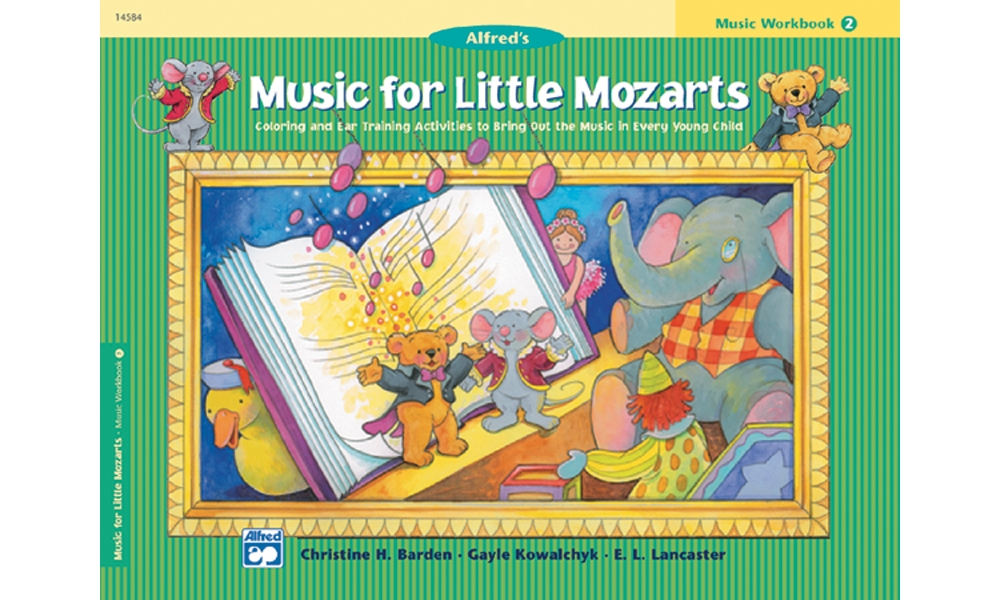 Alfred 00-14584 Music for Little Mozarts- Music Workbook 2 Music Book by Alfred