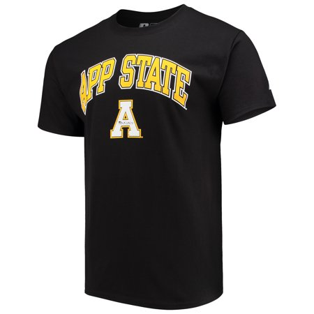 Men's Russell Black Appalachian State Mountaineers Core Print T-Shirt