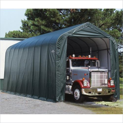 Boat Shelter w Peak Style Frame - Grey Or Green (Green)