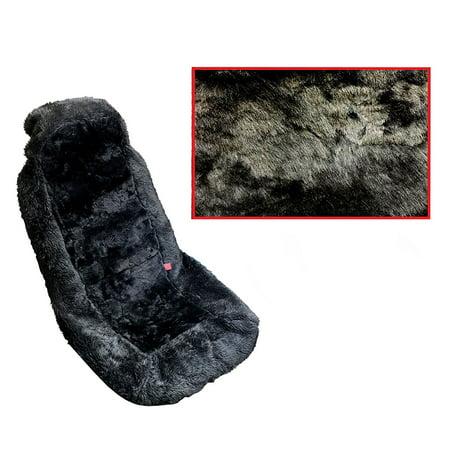Premium Sheepskin Auto Seat Cove Front Car Seats (One Seat Cover, (Sheepskin Car Seat)
