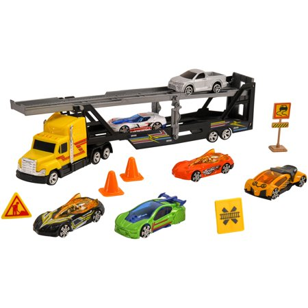 Adventure Force 12-Piece Die-Cast Vehicle Transporter Set