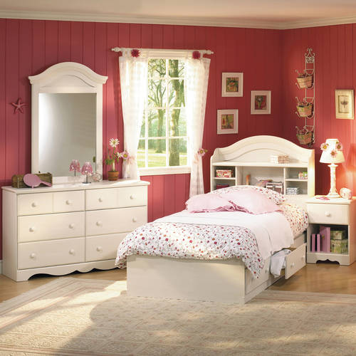 South Shore Summer Breeze 4-Piece Bedroom Set, Twin, Multiple Finishes