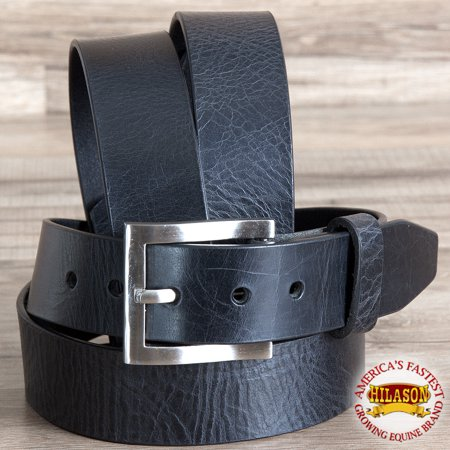 69 Leather - 34'' Hilason Casual Jeans Dress Belt Vintage Western Genuine Leather BLK