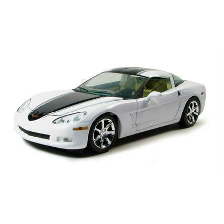 2009 Chevrolet Corvette C6 1/24 Coupe White Diecast Car Model by Greenlight Chevrolet Corvette C6 Coupe