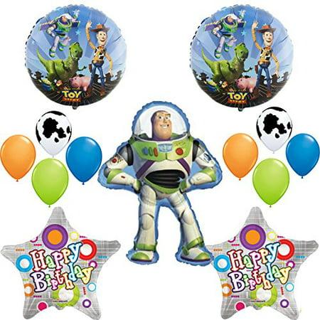 Toy Story Buzz Lightyear Happy Birthday Balloon Decoration Set](Balloon Buzz Lightyear)