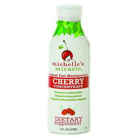 Michelle's Miracle Cherry Concentrate, Original Tart Montmorency, 16 Fluid Ounce