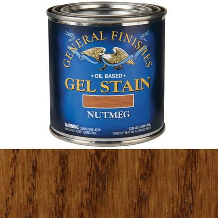 - Nutmeg Gel Stain, 1/2 Pint