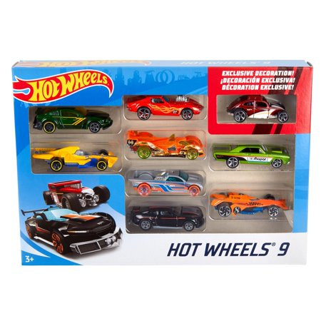 Hot Wheels 9-Car Collector Gift Pack (Styles May Vary) Style Race Car