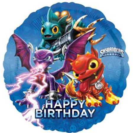 Skylanders Giants Happy Birthday Foil Mylar Balloon (1ct) - Skylanders Birthday Party