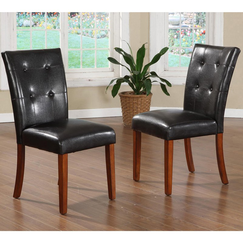 Homelegance Achillea Button Tufted Parsons Chair - Set of 2