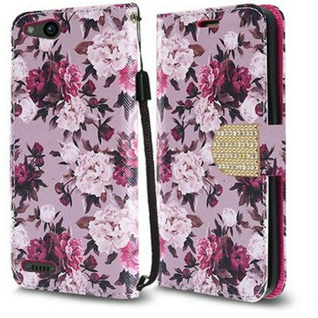 Accessories Leather Pouch (ZTE Tempo X / Avid 4 / Blade Vantage Premium Leather Wallet Case Pouch Flip Phone Case Cover Accessory)