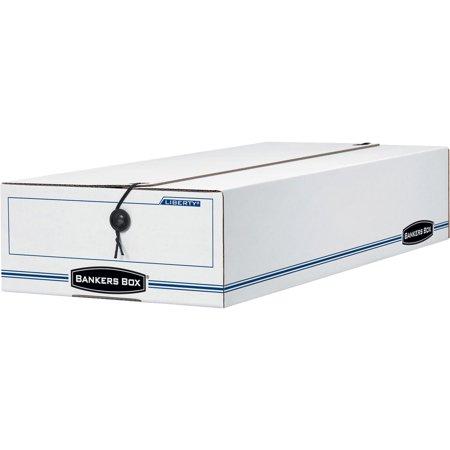 Bankers Box, FEL00005, Liberty Corrugated Storage Boxes, 12 / Carton, White,Blue
