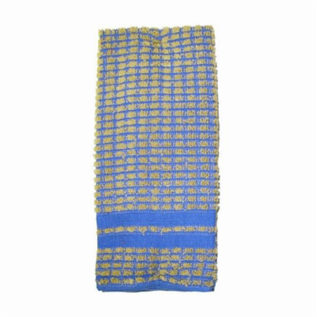 J & M Home Fashions 7425 16 x 26 inch Blue 100 Percentage Cotton Kitchen Towels - 2 Pack, Pack Of 3