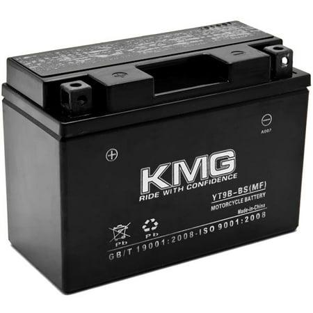 kmg yt9b bs battery for yamaha yzf r6 2001 2007 sealed
