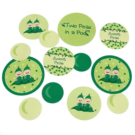 - Twins Two Peas in a Pod - Party Table Confetti Set - 27 Count