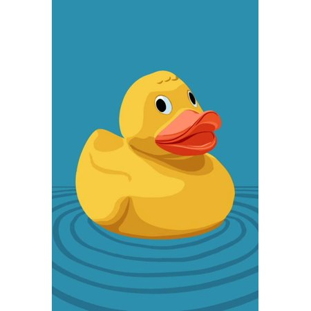Rubber Duck - Letterpress Print Wall Art By Lantern Press - Rubber Duck Clip Art