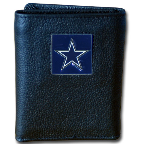 Dallas Cowboys Official NFL Leather and Nylon Tri-fold Wallet by Siskiyou 969553