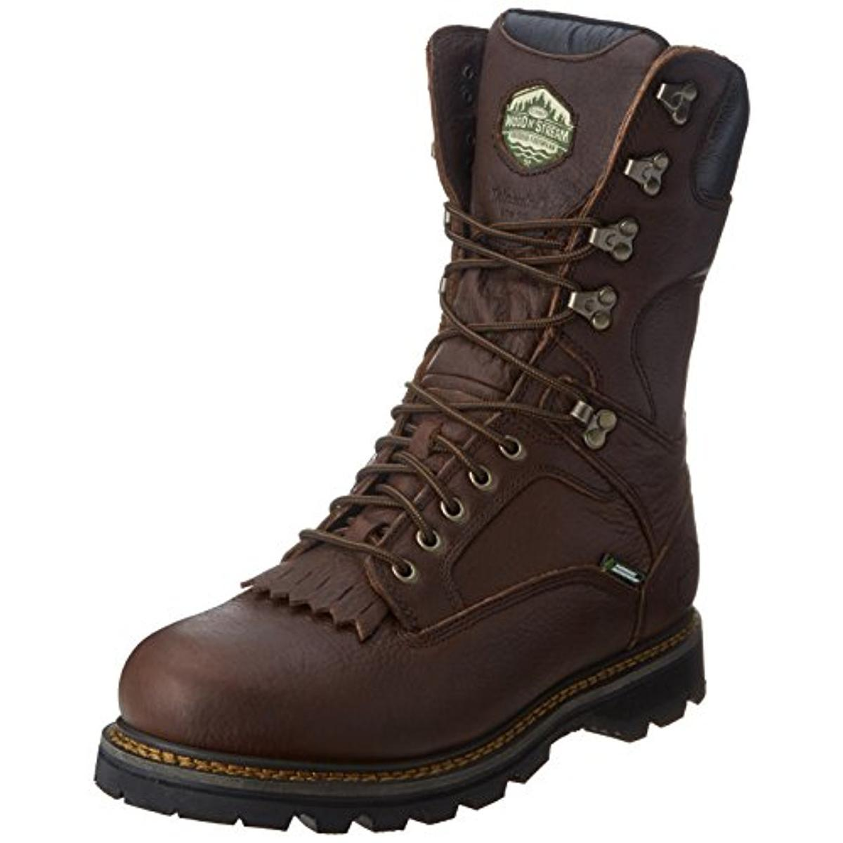 wood n mens leather waterproof hiking boots