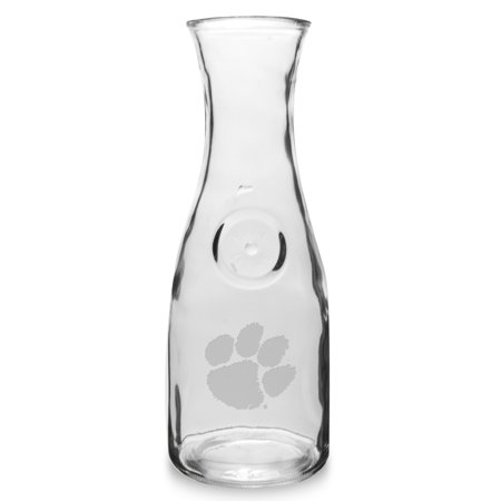Clemson Tigers 1 Litre Deep Etched Wine Carafe by