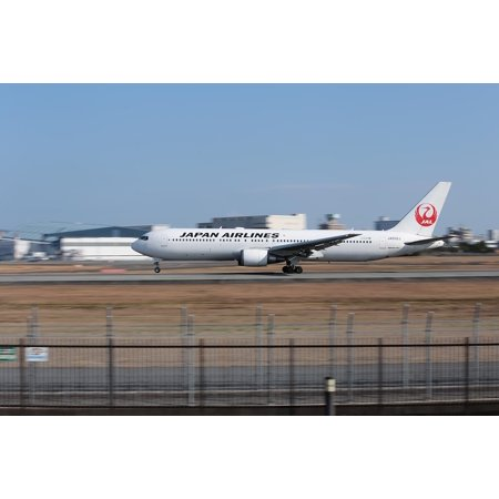 767 300 Airplane - LAMINATED POSTER Airplane Boeing 767 Japan Osaka Airport Poster Print 24 x 36