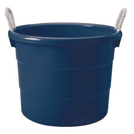 ZORO SELECT Storage Tub w/ Rope Handles,18 Gal,Navy - Plastic Basket With Handle